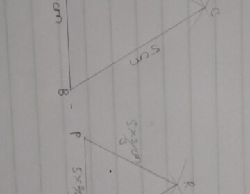 Construct an equilateral Δ ABC with each side 5 cm. Then construct another triangle whose sides are 2/3 times the corresponding sides of Δ ABC.