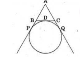 In the given figure, find the perimeter of ΔABC, if AP = 12 cm.