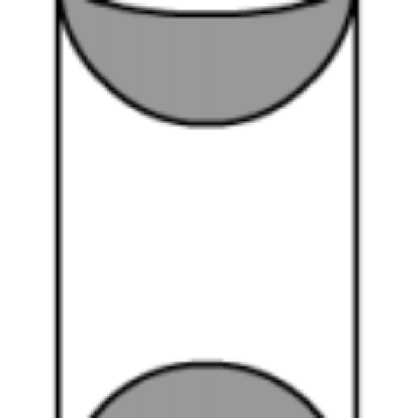 A wooden article was made by scooping out a hemisphere from each end of a cylinder, as shown in the figure. If the height of the cylinder is 20 cm and its base is of diameter 7 cm, find the total surface area of the article when it is ready.