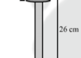 A wooden toy is in the shape of a cone mounted on a cylinder, as shown in the figure. The total height of the toy is 26 cm, while the height of the conical part is 6 cm. The diameter of the base of the conical part is 5 cm and that of the cylindrical part is 4 cm. The conical part and the cylindrical part are respectively painted red and white. Find the area to be painted by each of these colors.