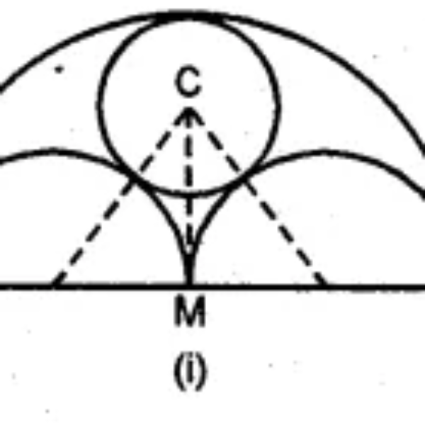 Question 13. (a) In the figure (i) given below, AB = 8 cm and M is mid-point of AB. Semi-circles are drawn on AB, AM and MB as diameters. A circle with centre C touches all three semi-circles as shown, find its radius.
