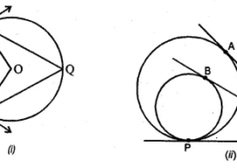 Question 18. (a) In the figure (i) given below, PA and PB are tangents at a points A and B respectively of a circle with centre O. Q and R are points on the circle. If ∠APB = 70°, find (i) ∠AOB (ii) ∠AQB (iii) ∠ARB (b) In the figure (ii) given below, two circles touch internally at P from an external point Q on the common tangent at P, two tangents QA and QB are drawn to the two circles. Prove that QA = QB.