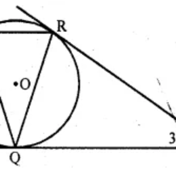 Question 20. In the given figure, tangents PQ and PR are drawn from an external point P to a circle such that ∠RPQ = 30°. A chord RS is drawn parallel to the tangent PQ, Find ∠RQS