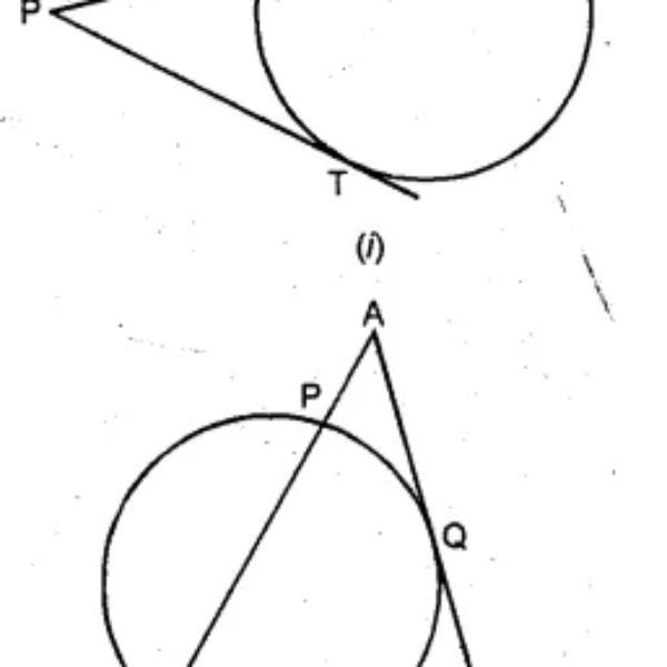 Question 33. (a) In the figure (i) given below, PAB is secant and PT is tangent to a circle. If PA : AB = 1:3 and PT = 6 cm, find the length of PB. (b) In the figure (ii) given below, ABC is an isosceles triangle in which AB = AC and Q is mid-point of AC. If APB is a secant, and AC is tangent to the circle at Q, prove that AB = 4 AP