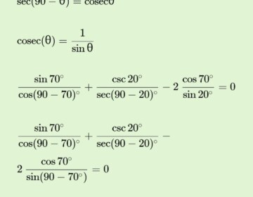 Prove that: Sin 70°/cos 20° + cosec 20°/sec 70°- 2cos 70° cosec20° = 0